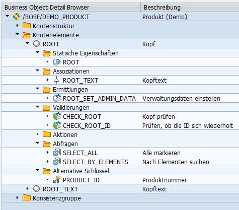 SAP BOPF: Detailansicht eines Knotens