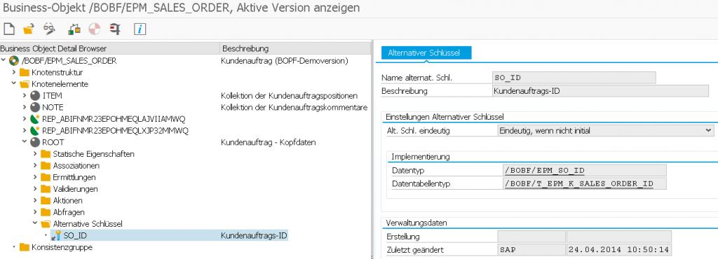 BOPF API Alternative Key