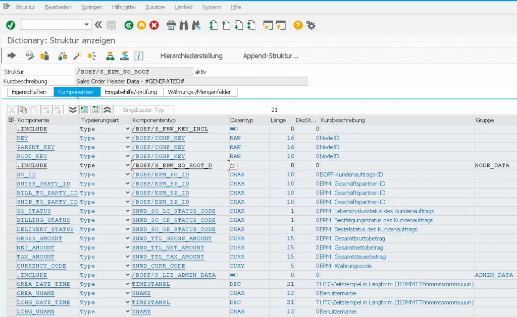 BOPF API Kombi Struktur