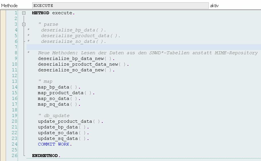 BOPF EPM Datengenerator Execute Methode Neu