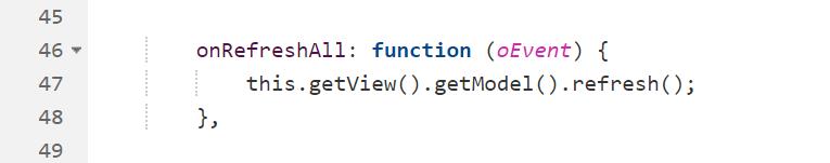 Refresh des ODataV2-Models - <em>this.getView().getModel().refresh();</em>