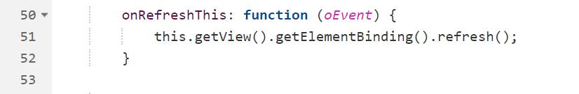 Refresh des ODataV2-Models - <em>this.getView().getElementBinding().refresh();</em>